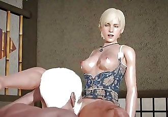 Old man make pussylicking , RESIDENT EVIL SHERRY BIRKIN, xxx videogame