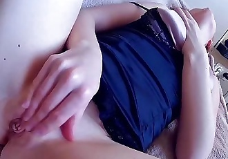 Redhead Russian Teen Pleasing Herself till Orgasm