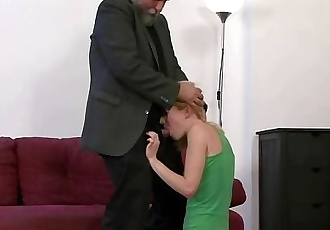 Father punishes his son\