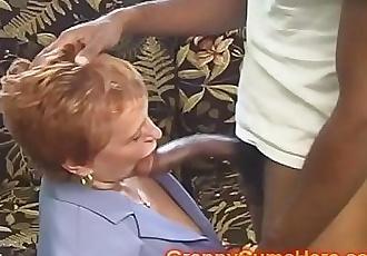 School Teacher GRANNY gets FUCKED