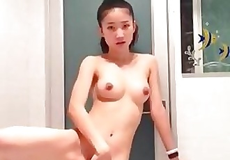 Cute Chinese Teen Playing her pussy