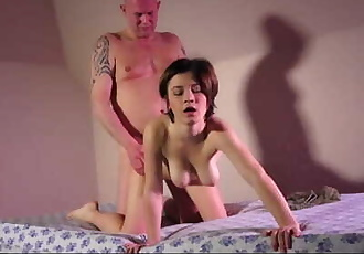 Big boobs girl takes the potency out of old guy