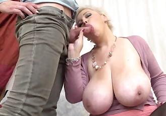 BUSTY mom pleasing lucky son