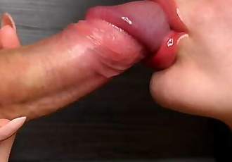 Closeup Sloppy Blowjob and Cumshot in Mouth