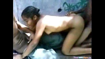 Ebony Teen Slut Homemade Threesome - 2 min