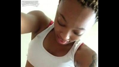 YOUNG REDBONE FUCKED DOGGY - 2 min