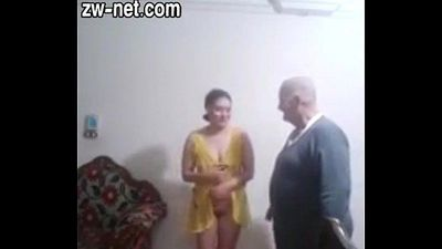 Old Man And Young Egyptian Teen zw-net.com - 2 min