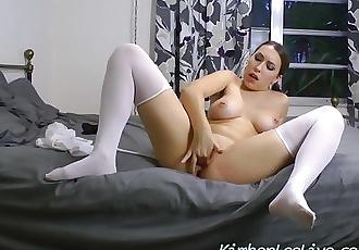 Teen School Girl Finger Fucks Pussy