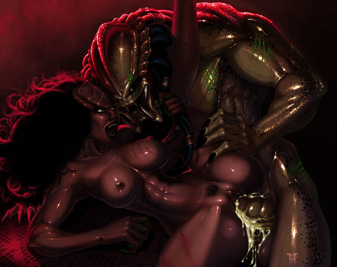 Чужой и хищник секс
