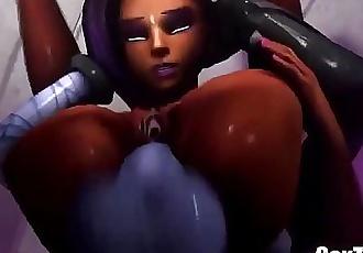 Sombra x Widowmaker 3D Monster - Full HD Video on SexZink.Com - 1 min 22 sec