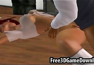 3d cartoon redhead gets her pussy sucked and licked - 7 min