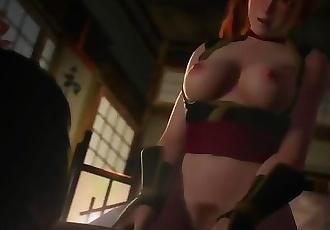 3D hentai sex riding with white stockings