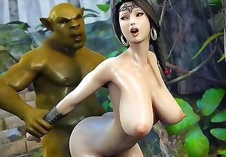 Green troll fucks asian in nature. Best 3d porngame!