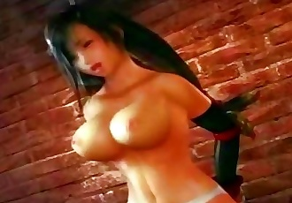 Final Fantasy VII - Tifa On Riding Machine
