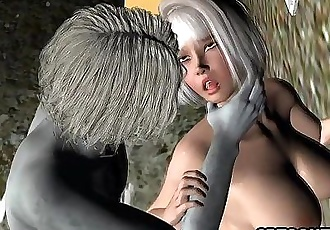 Sexy 3D cartoon babe getting fuckced by a zombie - 5 min HD
