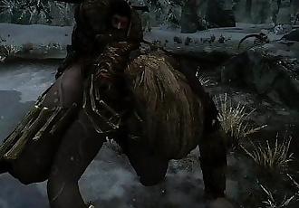 TESV SKYRIM: FUCKING A FEMALE GIANT DOGGYSTYLE!! - 1 min 26 sec