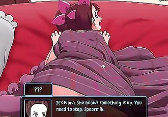 Horny for sex purple haired anime girl gets fucked in the anus and in her fantastic pussy l My sexiest gameplay..