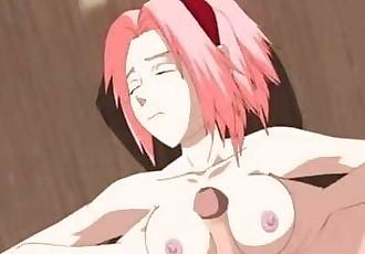 Naruto Fucks Sakuras Pussy and Tits HENTAI