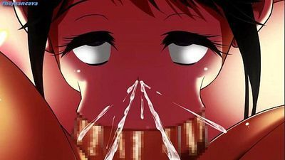 【Awesome-Anime.com】3D Anime - busty girl got slave training - 12 min