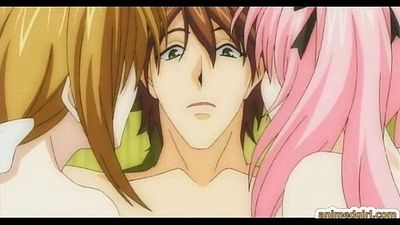Two japanese anime sharing cock - 6 min
