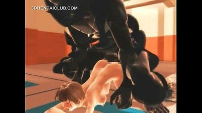 Anime karate girl fucking monsters giant penis - 5 min