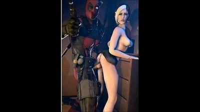 Deadpool fucks rogue made in SFM - 2 min