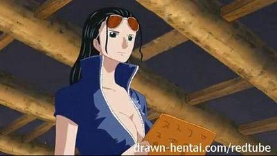 One Piece Hentai video Sex with Nico Robin - 6 min