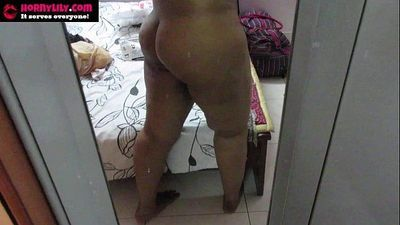 sexy amateur indian babe lily ass - 10 min HD