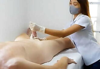 Young Esthetician Student Enjoy her Job. Perfect Moment.