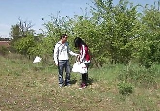 Teen Nikki gets fucked and jizzed outdoorsHD