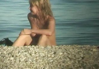 Cute nudist teen caught on cam