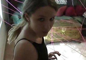 Cute 18YO Plays Burglar to Get her DildoDarlingCams.com