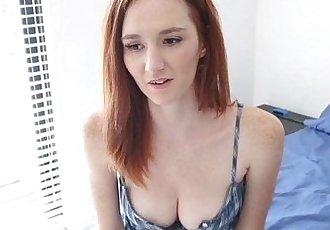 Busty Redheaded Teen Newcomer Dee Dee Lynn Rides A Big Cock