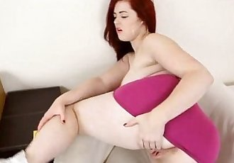Jaye Rose Curvaceous redheaded girl gives a POV dildo blowjobPOV Porn