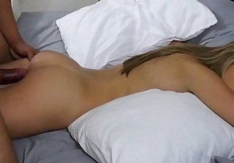 Kimmy Granger gets her pussy drilled doggystyle pleasure