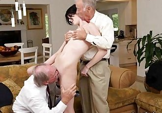 Young Slut Alex Harper Gets Shared By Old Men.wm