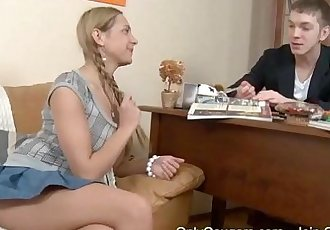 Russian Teen Lets Her Study Partner Bang Her In The AssholeHD