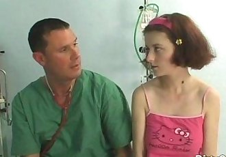 busty redhead teen fucked by her doctor