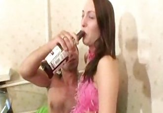 Russian Drunken Teen