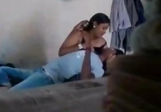 BANGLADESHI - Girlfriend letting her boobs to suck