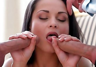 Sexy Little Slut Gets Double Penetrated