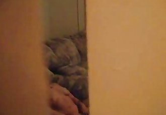 I spied my sister fingering. Caught through window - 41 sec