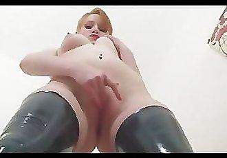 Latex Slut Striptease!
