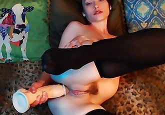 Big dildo - Pounding My Ass Squirting On My Face