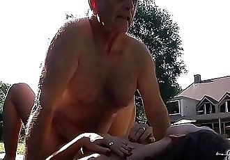 Grandpa fucks young pussy so tight and wet ready for cum 14 min HD+