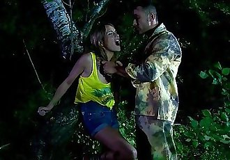 Eurobabe punished in outdoor roughsex aciton - 6 min