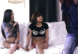 BurningAngel Emo Sisters Share Neighbors BBC
