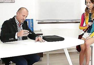 Tricky Old TeacherExperienced but kinky teacher seduces his hot student 7 min HD+