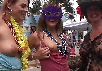 Tits of All Sizes Fantasy Fest Key West Florida
