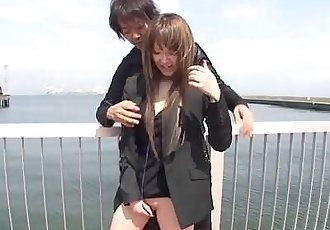 Japanese outdoor stripping and vibrator teasing Subtitled - 5 min HD